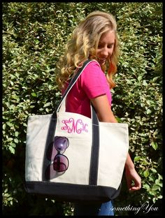 Bridesmaids tote...Monogram Jute Beach Tote Personalized by ...