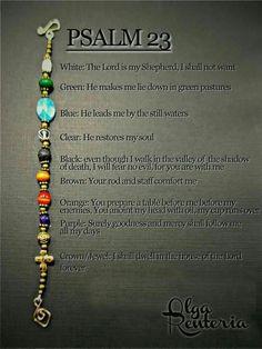 Pulsera Salmo 23.