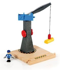 Brio Tower Crane BRI-33320 When things get heavy down at the track youll be glad to have the BRIO tower crane on hand. Turn the crank and lift the magnetic load. Load and unload all your trains. The big crane boom pivots around http://www.MightGet.com/january-2017-12/brio-tower-crane-bri-33320.asp