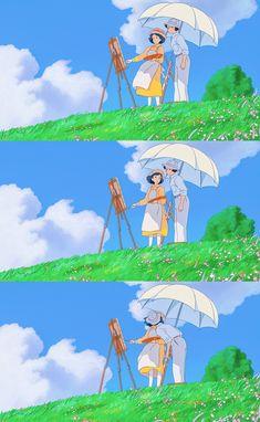 Studio Ghibli Art, Studio Ghibli Movies, Manga Anime, Otaku Anime, Studio Ghibli Background, Wind Rises, Anime Scenery Wallpaper, Favorite Cartoon Character, Hayao Miyazaki