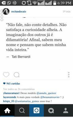 Tati Bernardi #citação