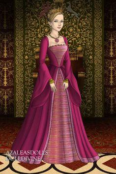 Tudor Ashuri by Ashuri ~ Folk and Historical Dress Up Tudor Fashion, Renaissance Fashion, Historical Costume, Historical Clothing, Historical Dress, 1800s Dresses, Paper Dolls Clothing, Medieval, Doll Divine