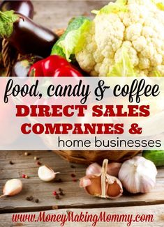This is a list of direct sales companies that offer either food or drinks as their product. Get more information on their home business opportunities. Home Party Business, Best Home Based Business, Successful Home Business, Best Business Plan, Home Based Business Opportunities, Business Tips, Online Business, Business Names, Business Design