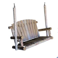 Amazon.com : Lakeland Mills 5-Foot Cedar Log Porch Swing, Natural : Garden Swing : Patio, Lawn & Garden