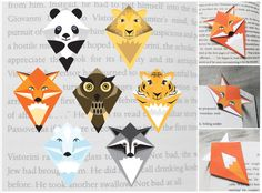 Animal Corner-bookmark PDF. Make them yourself.