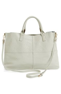 Topshop Faux Suede Tote Bag available at #Nordstrom