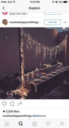 Beautiful outdoor dinner party setting and lighting Ramadan Decorations, Wedding Decorations, Yard Decorations, Wedding Ideas, Bonfire Party Decorations, Trendy Wedding, Small Wedding Receptions, Summer Wedding, Wedding Colors