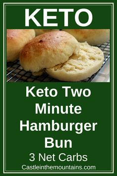 Keto Hamburger Bun #keto #ketogenic #lowcarb #ketodiet