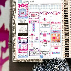 Paper & Glam Planning January Mid Week Layout in Erin Condren Hourly Life Planner