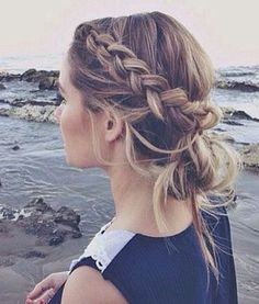 16 Stunning Hairstyles for Different Occasions: #4. Braided Lower Updo Hairstyle