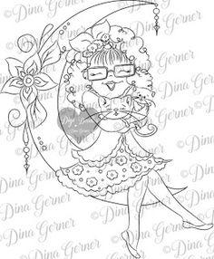 1885 best zentangles doodles coloring images coloring books Creative Magazine Covers dig doodle studios featured designer digi st linda is over the moon digital st s girl st s instant download