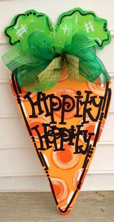 Easter carrot door hanger Easter door sign by paintchic on Etsy, $35.00