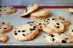 Shauna Sever's scrumptious recipe for Lemon, White Chocolate, and Blueberry Shortbread Cookies