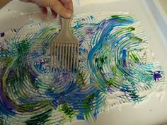 Shaving cream for Starry starry night for ages 3-5, once printed draw stars