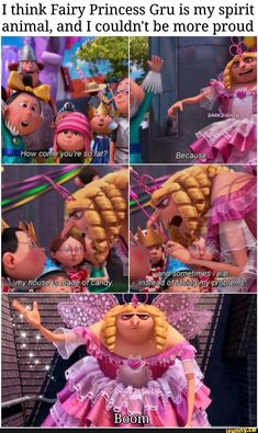I think Fairy Princess Gru is my spirit animal, and Iicouldn't be more proud - iFunny :) Disney Jokes, Funny Disney Memes, Crazy Funny Memes, Funny Video Memes, Really Funny Memes, Stupid Memes, Funny Relatable Memes, Haha Funny, Funny Cute