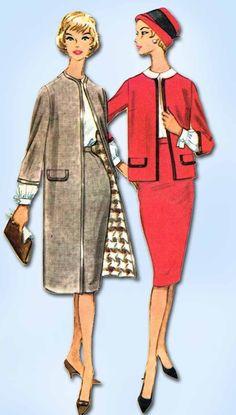 1950s Vintage McCalls Sewing Pattern 5302 Uncut Misses Suit and Coat Size 34 B