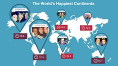 The World's Happiest Continents Measured By Smiles In Instagram Photos