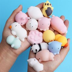 3D Squishy Cute Cat Squeeze Sticker Anti-Stress Toy Decor For Mobile Cell Phone