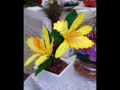 HELICONIA EN GOMA EVA -moldeado de flores exóticas - YouTube