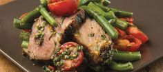 Barbeque Pork Neck, Spicy Lime Dressing, Green Beans, Tomatoes by Adam Donnelly of Segovia