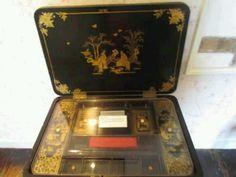 Jane Austen's sewing box - Chawton, UK.