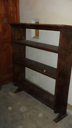 Antica Libreria Pensile in legno Antique wall bookcase