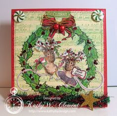 Do you love Beatrix Potter? This Dancing Deer Mouse Card made with the new Deer Christmas digital stamps from Crafty Secrets will make you smile!