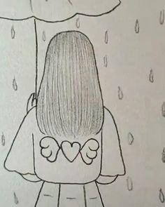 Cool Pencil Drawings, Bff Drawings, Girl Drawing Sketches, Cute Easy Drawings, Art Drawings Beautiful, Drawings Of Friends, Art Drawings For Kids, Art Drawings Sketches Simple, Diy Canvas Art