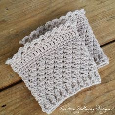 Ribbons and Grace Ladies Bootcuffs Free Crochet Pattern - Kirsten Holloway Designs Crochet Boots, Crochet Gloves, Crochet Slippers, Crochet Scarves, Knit Hats, Crochet Headbands, Knit Headband, Baby Headbands, Crochet Boot Cuff Pattern