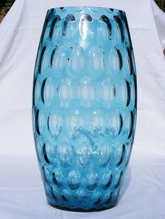 """Sklo Union - Borske Sklo """"large olives"""" blue glass vase by art-of-glass, via Flickr"""