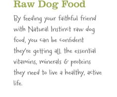 Raw Dog Food & Raw Cat Food in UK | Natural Instinct