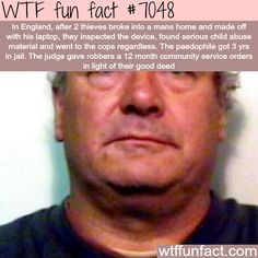 Pedophile jailed after thieves found child porn in his laptop - WTF fun facts