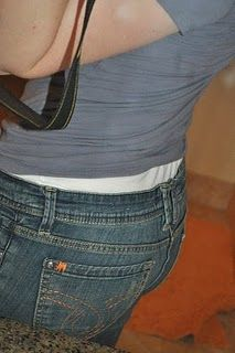 How to fix the gap in the back of your pants - why didn't I think of this before?