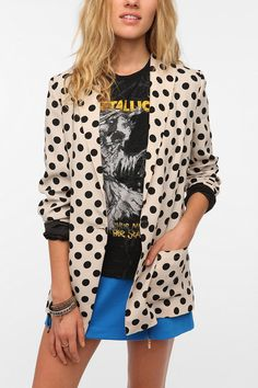 polka dotted blazer oversized. i need this in my closet