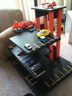 Wooden Play Parking Garage | Do It Yourself Home Projects from Ana White