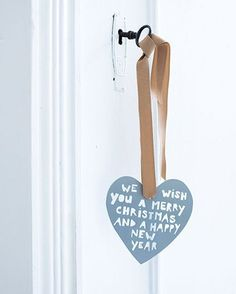 Idea! Gift for neighbours - leave an ornament on their front door. They can later use as a tree ornament.