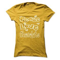 View images & photos of Limited Edition Peace. Love. Chocolate... t-shirts & hoodies