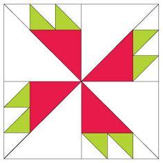 Rosebud Quilt Block Pattern