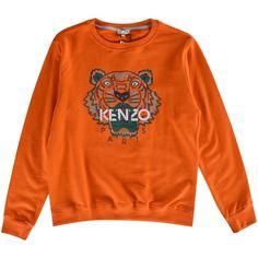 55d301c3072b KENZO JUNIOR Kenzo Kids Orange Tiger Crew Neck Sweatshirt - Junior from…