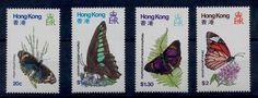 Hong Kong Butterfly Stamps 354 357 Nice MNH Set Hong Kong Butterflies Stamps | eBay
