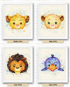 Lion King Nala Art Print Tsum Tsum Fabric Print par NeighborArts