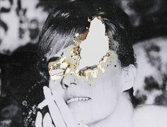 Self Portrait of You + Me (Jeanne Moreau) by Douglas Gordon Douglas Gordon, I Miss Your Face, Art Alevel, I Missed, Artist At Work, Light In The Dark, Art Inspo, Photo Art, Cool Art