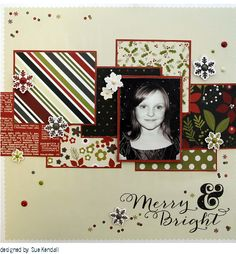 Scrapbook layout page.. included on this board are the directions and the links to supplies you need from Your Scrapbook Stash on 11 Main.