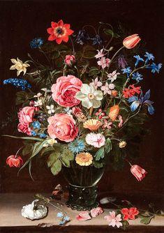 Clara Peeters  - A Flower Still-Life