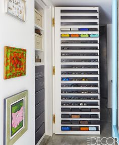 Perfect idea for sunglasses storage in this artsy San Francisco Loft.