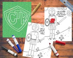 CTR coloring pages and poster- free printables! Great for the 2017 Primary theme