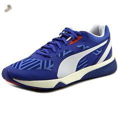 PUMA Women's 698 Ignite Stripes Sportstyle Sneaker, Dazzling Blue/White, 6.5 B US - Puma sneakers for women (*Amazon Partner-Link)