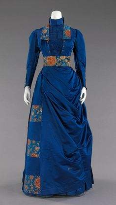 Afternoon ensemble Date: 1885–88 Culture: American Medium: silk, metal