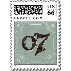 Number Seven Postage Stamp