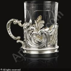 FABERGÉ Karl (Carl), 1846-1920 (Russia) Title : Tea Glass Holder Date : 1894   Category : Silver Medium : : Silver, weight 8.2 oz. (255 gr.)